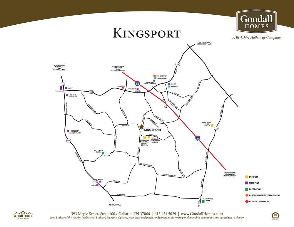 Kingsport Plans Prices Availability
