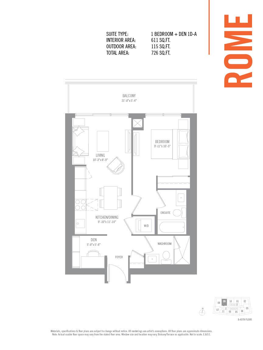 Floor plan of Rome