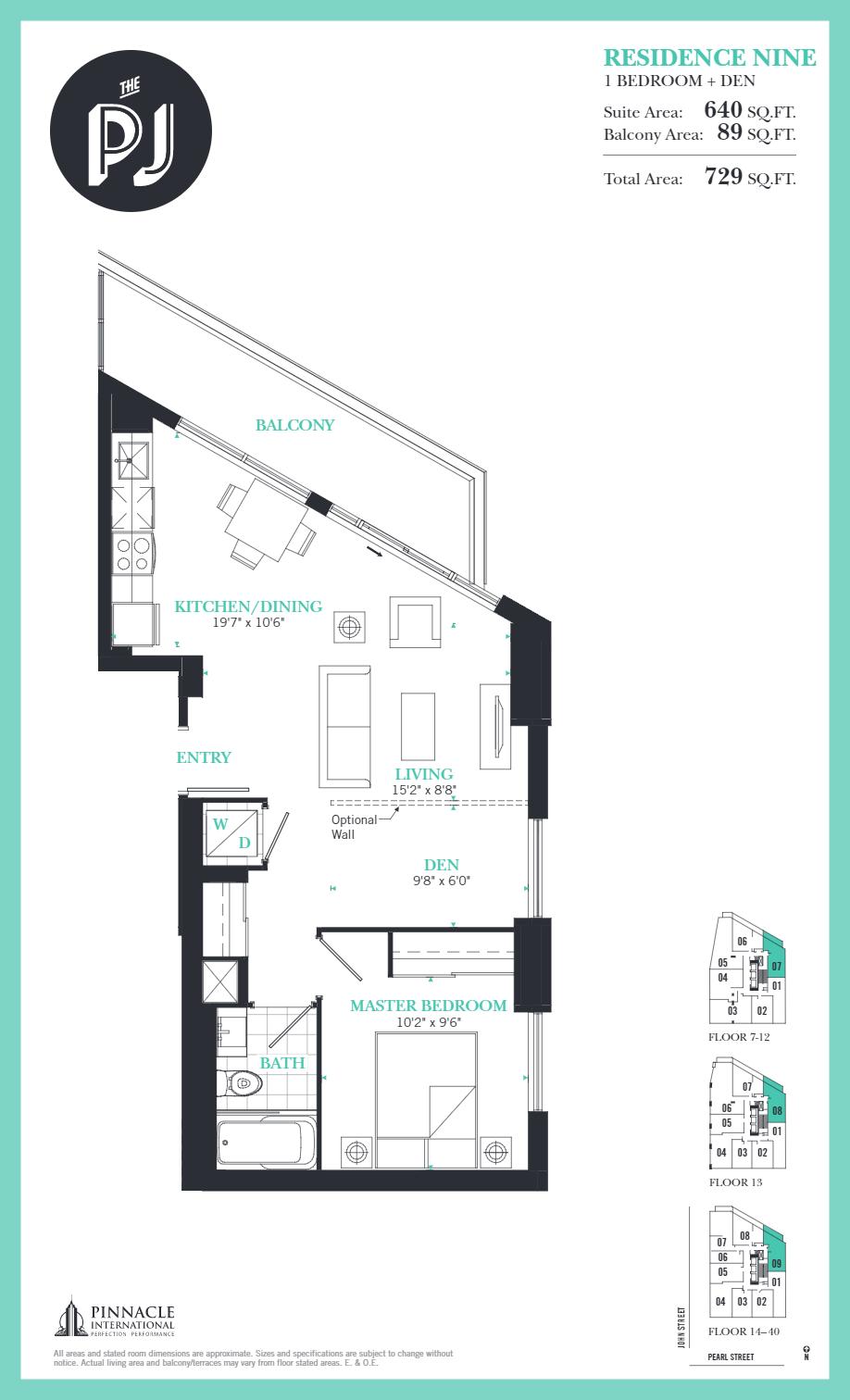 Floor plan of Residence Nine