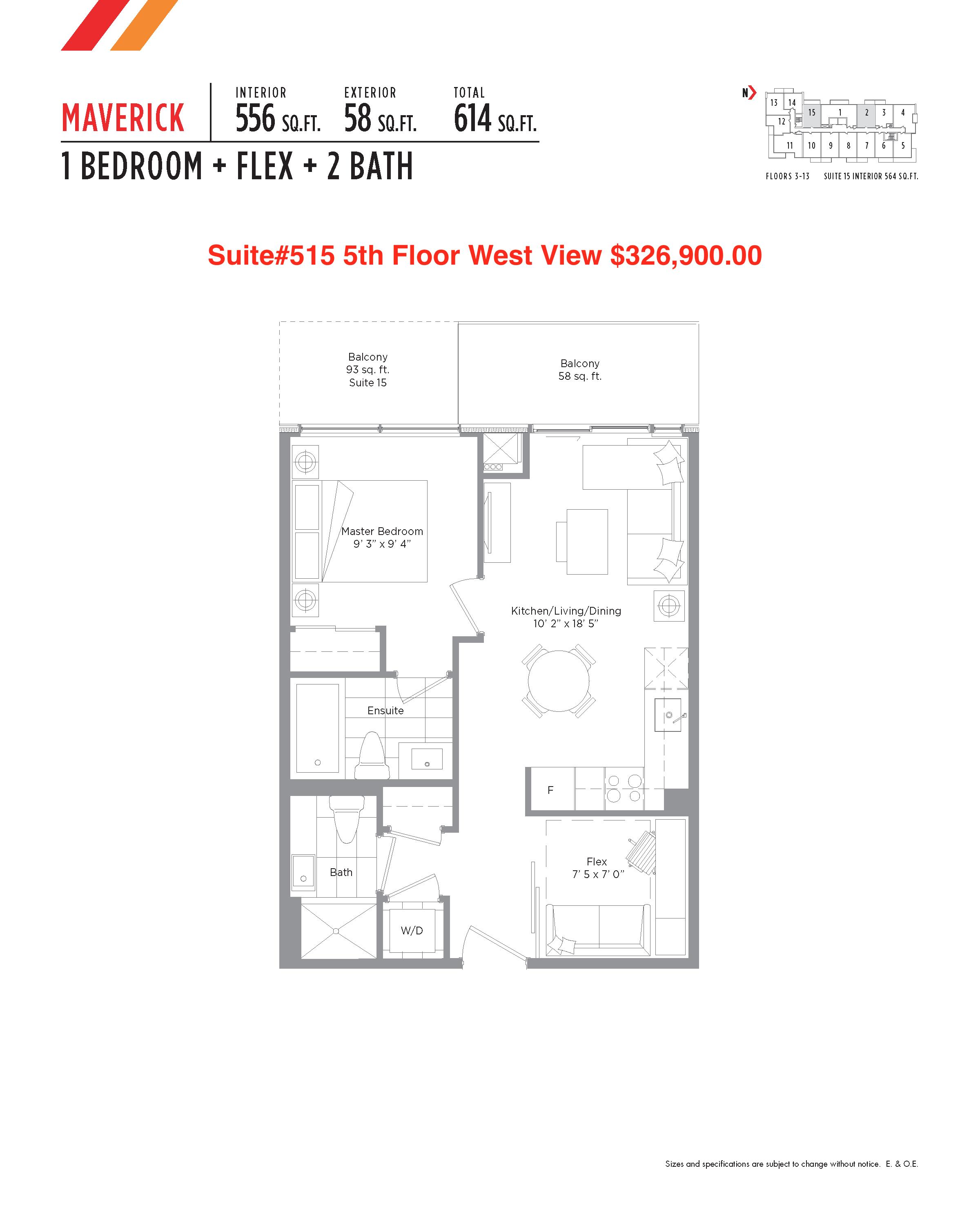 Floor plan of 515