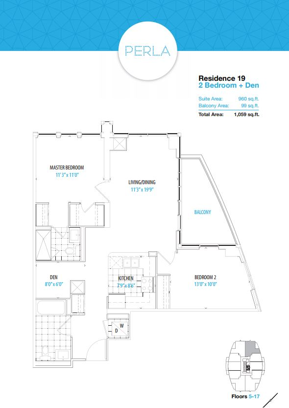 Floor plan of Typical Residence 19