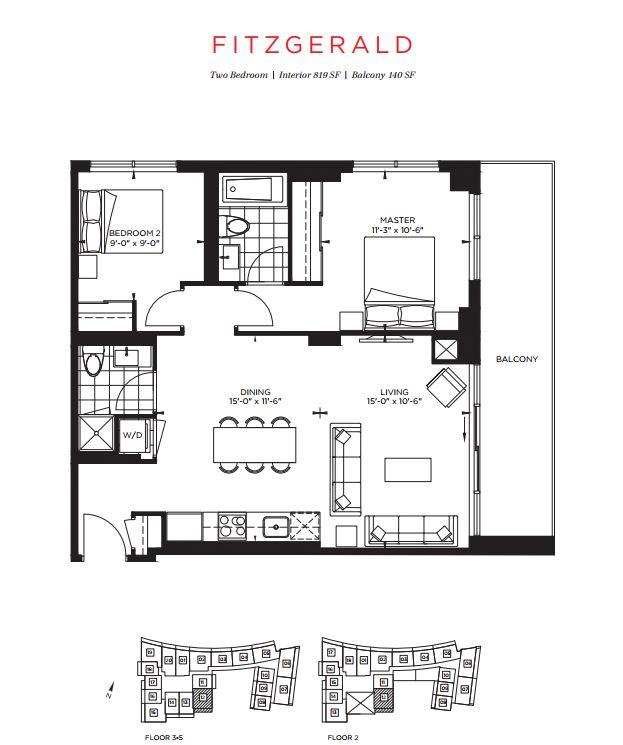 Floor plan of The Fitzgerald