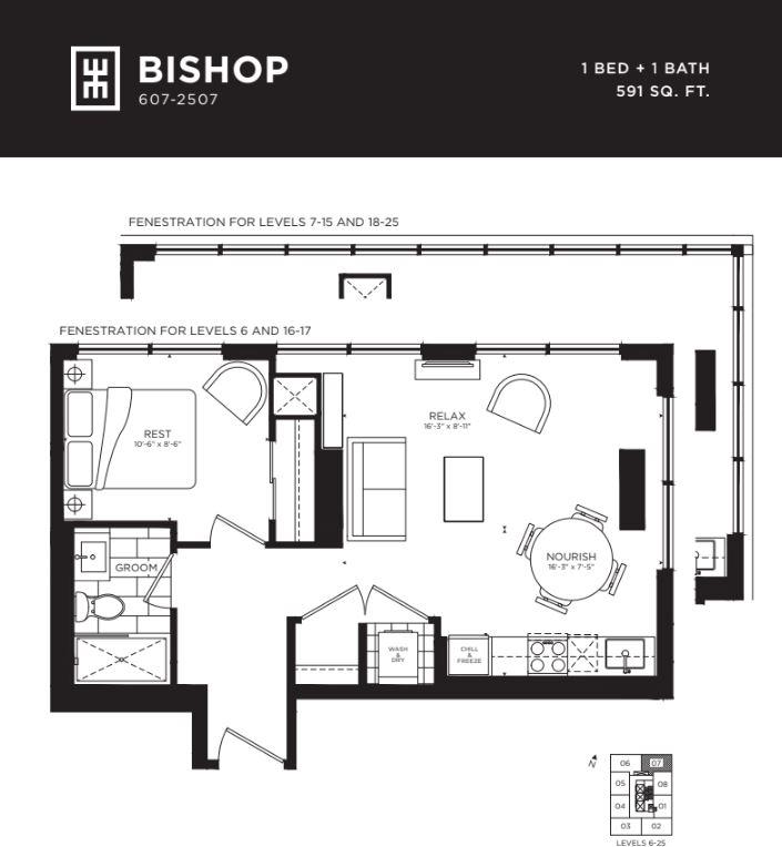 Floor plan of Bishop
