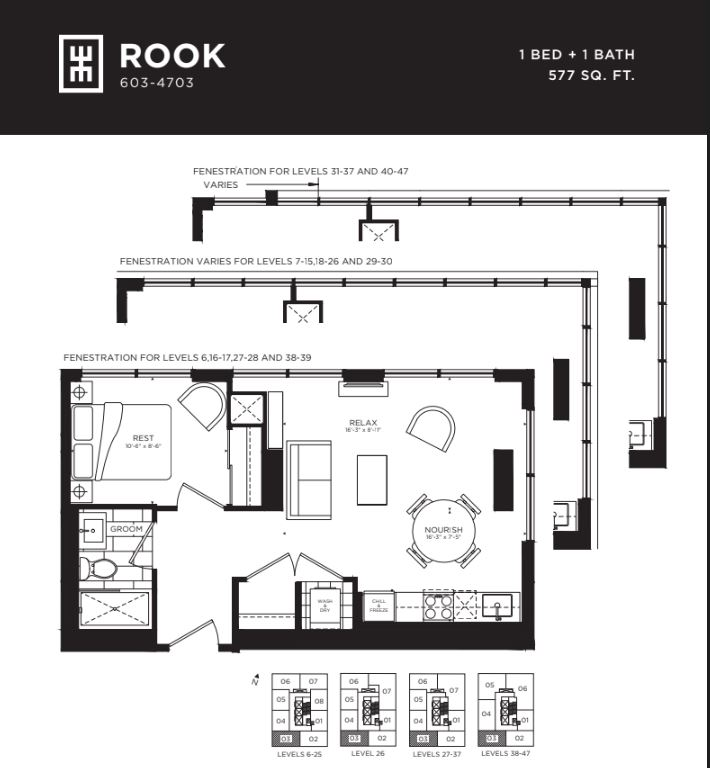 Floor plan of Rook