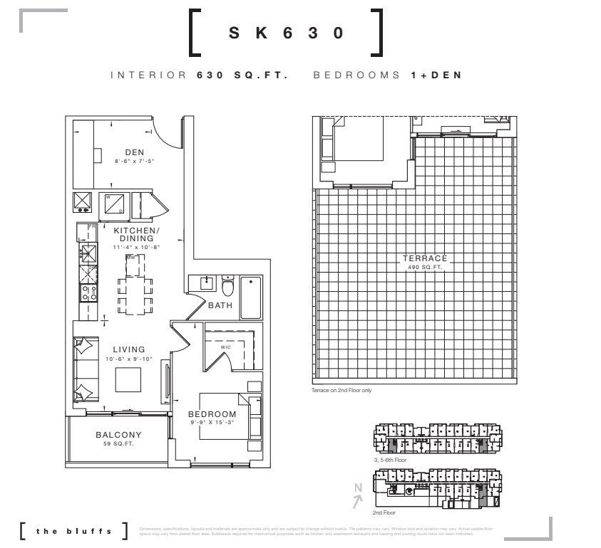Floor plan of 630