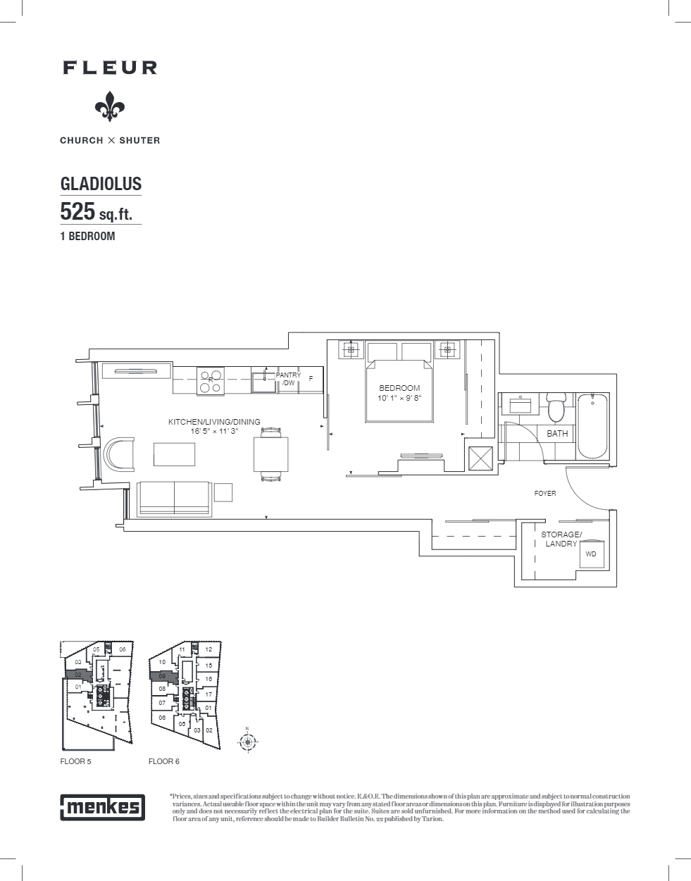 Floor plan of Gladiolus