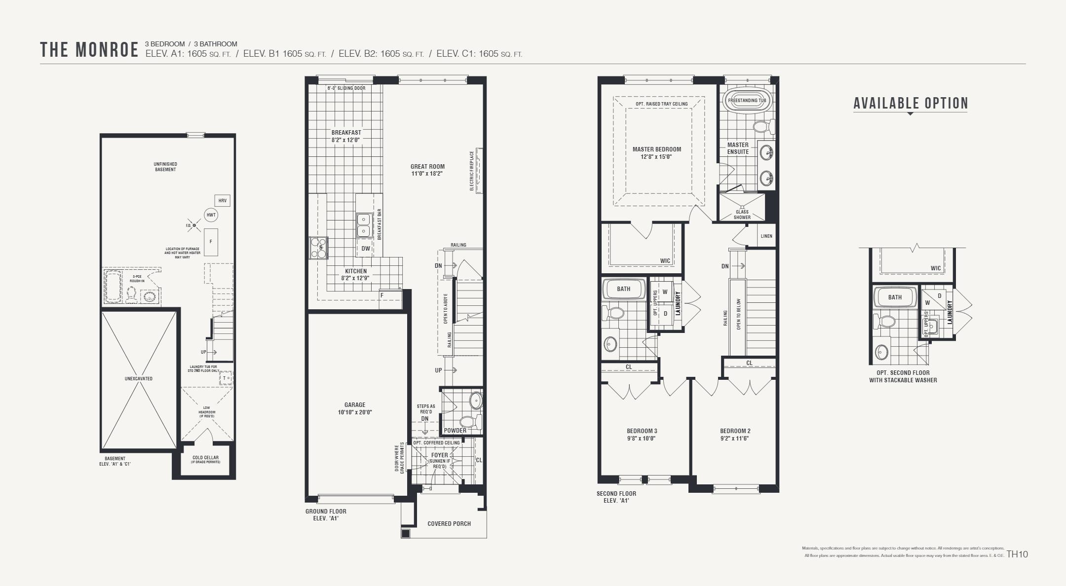 Floor plan of The Monroe