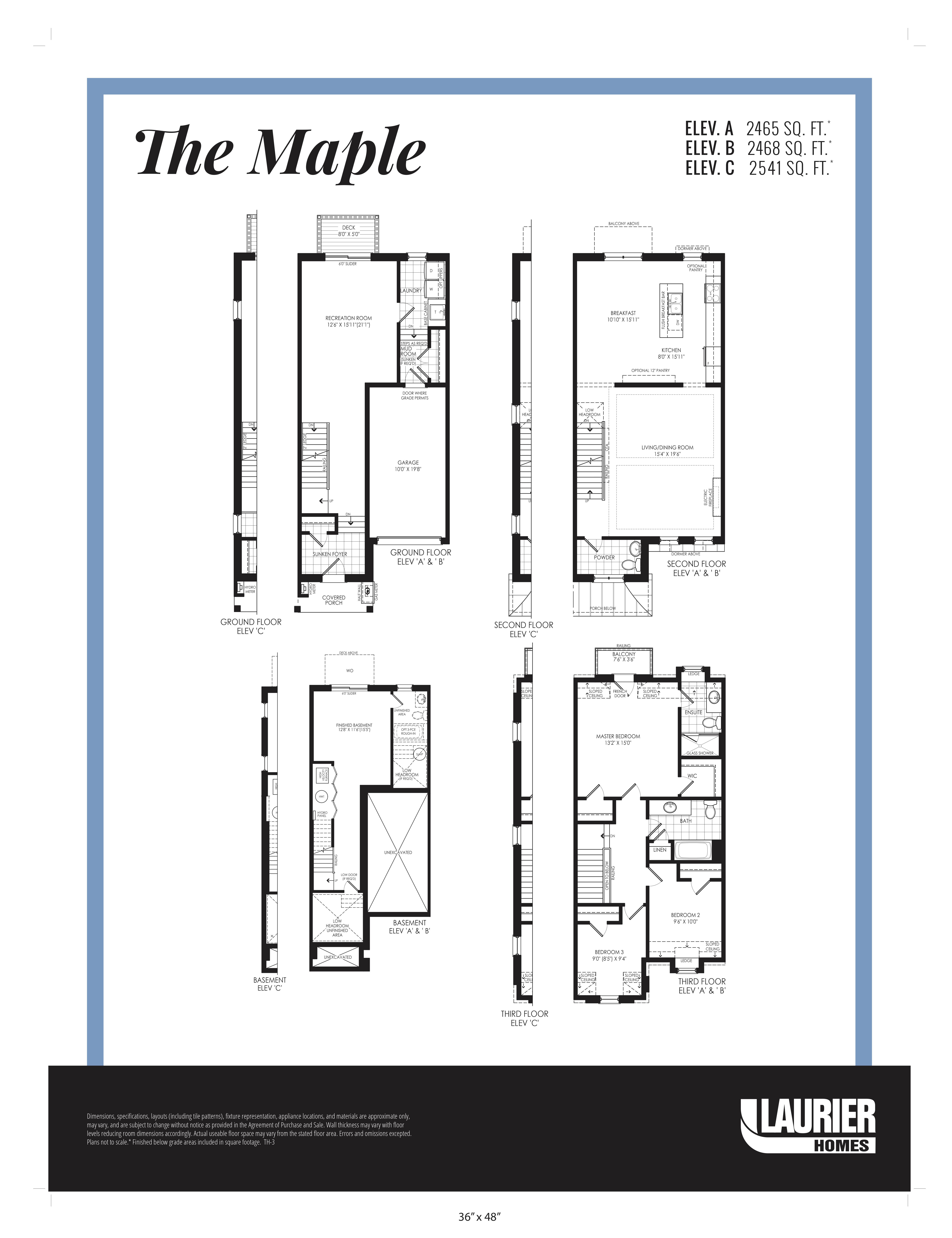 Floor plan of The Maple