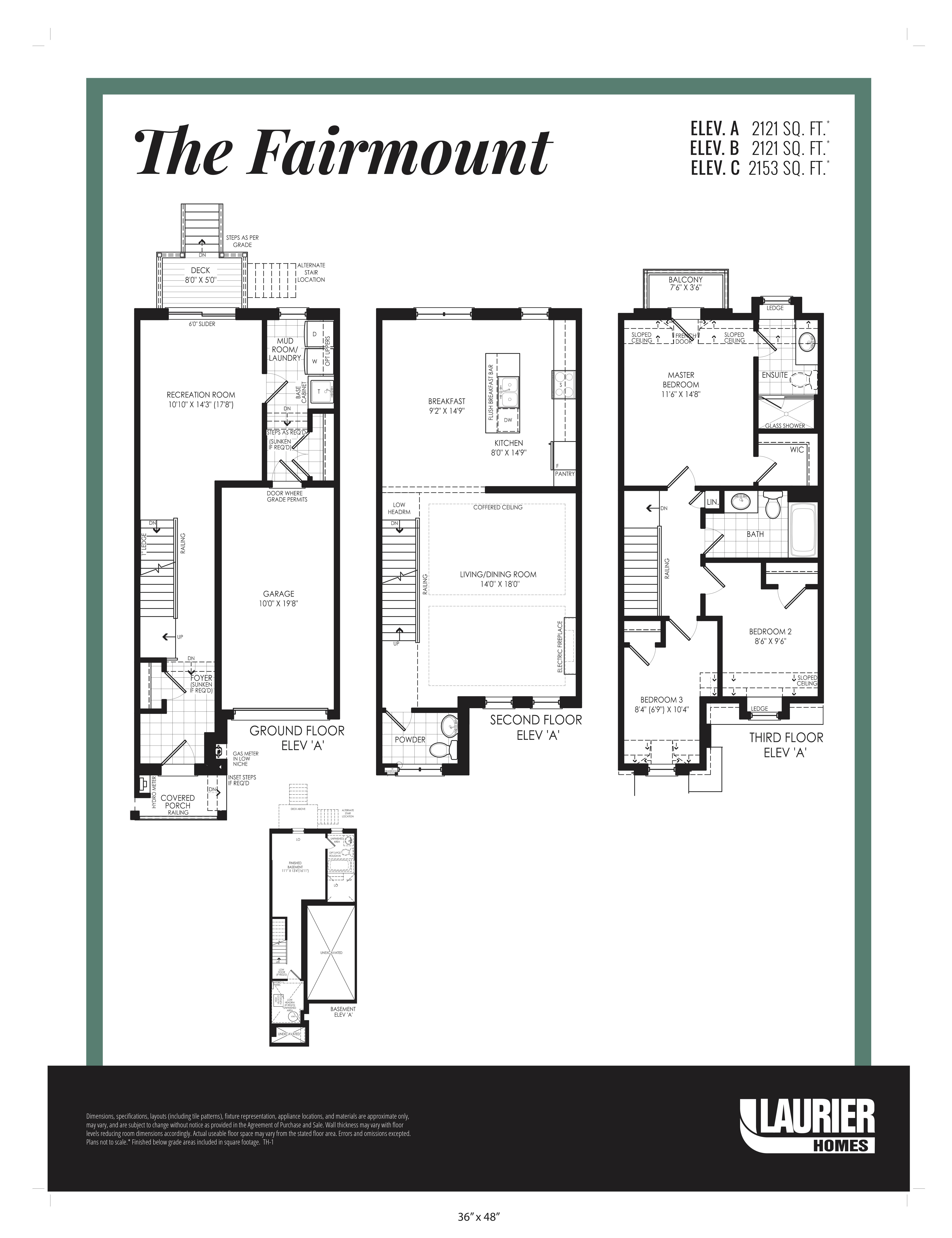 Floor plan of The Fairmount