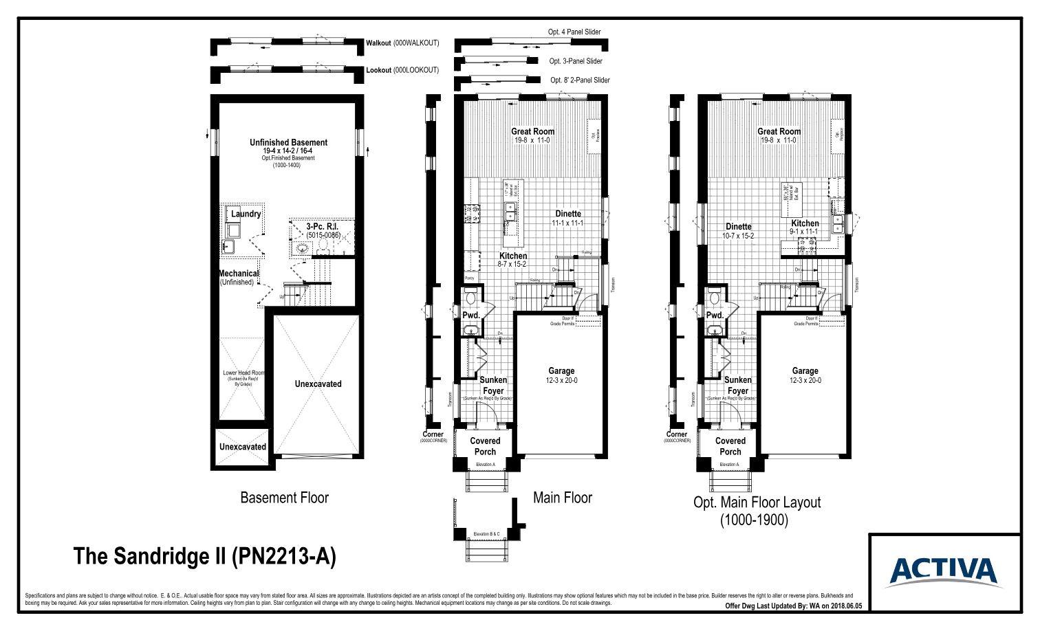 Doon South The Sandridge Ii Floor Plans And Pricing