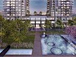 Exterior photo of Park Towers Condominiums at IQ
