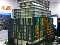 Construction photo of The College Condominium at Spadina