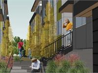 Exterior photo of Northline Townhomes