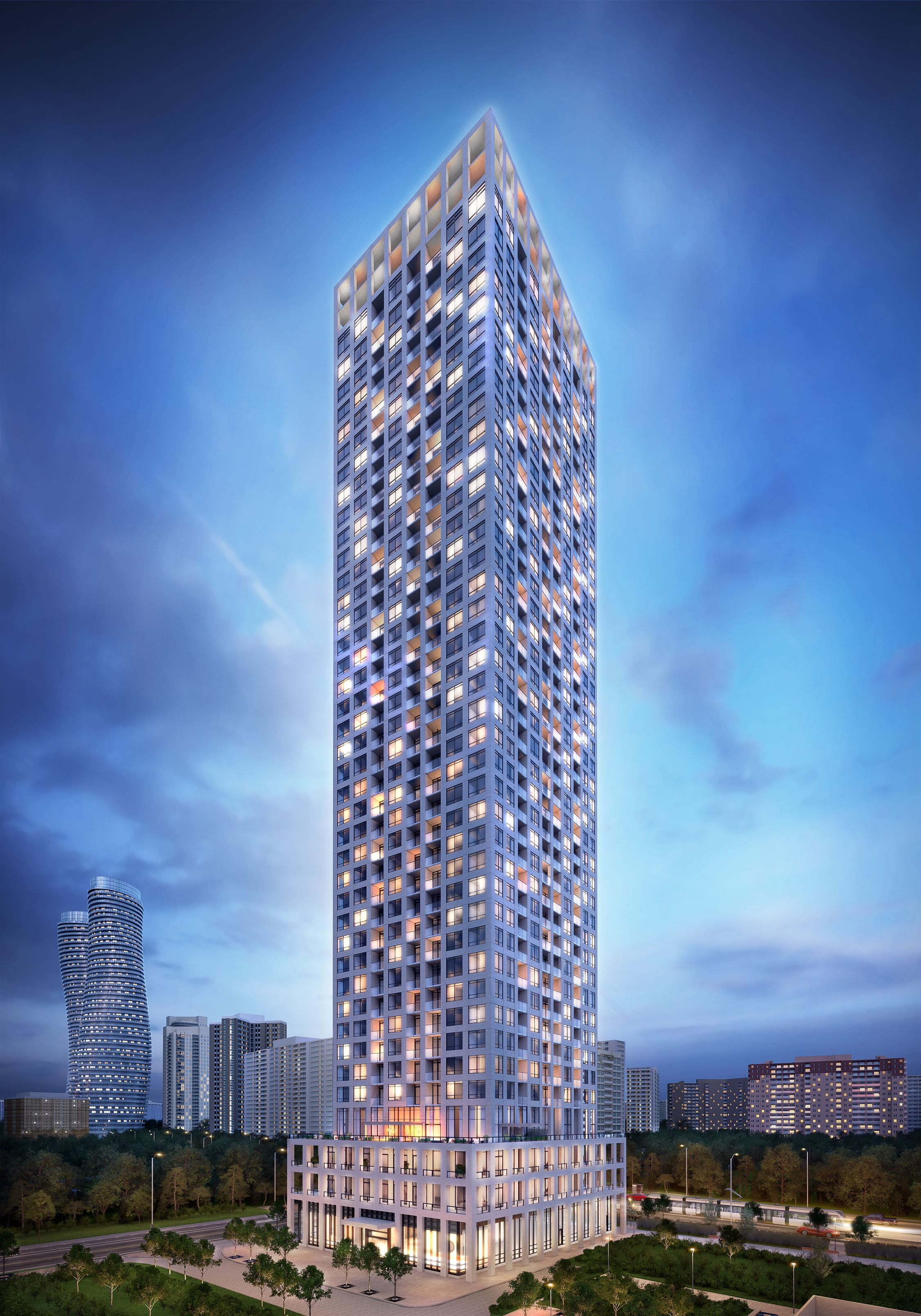 Exterior photo of Edge Tower 1