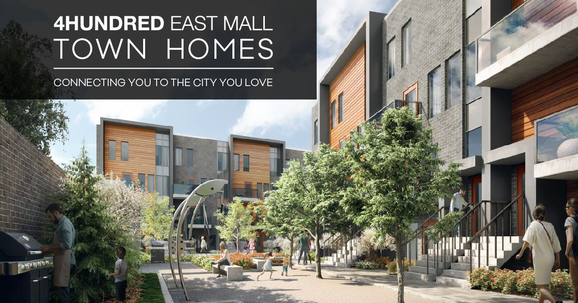 Exterior photo of 4HUNDRED EAST MALL Stacked Town Homes