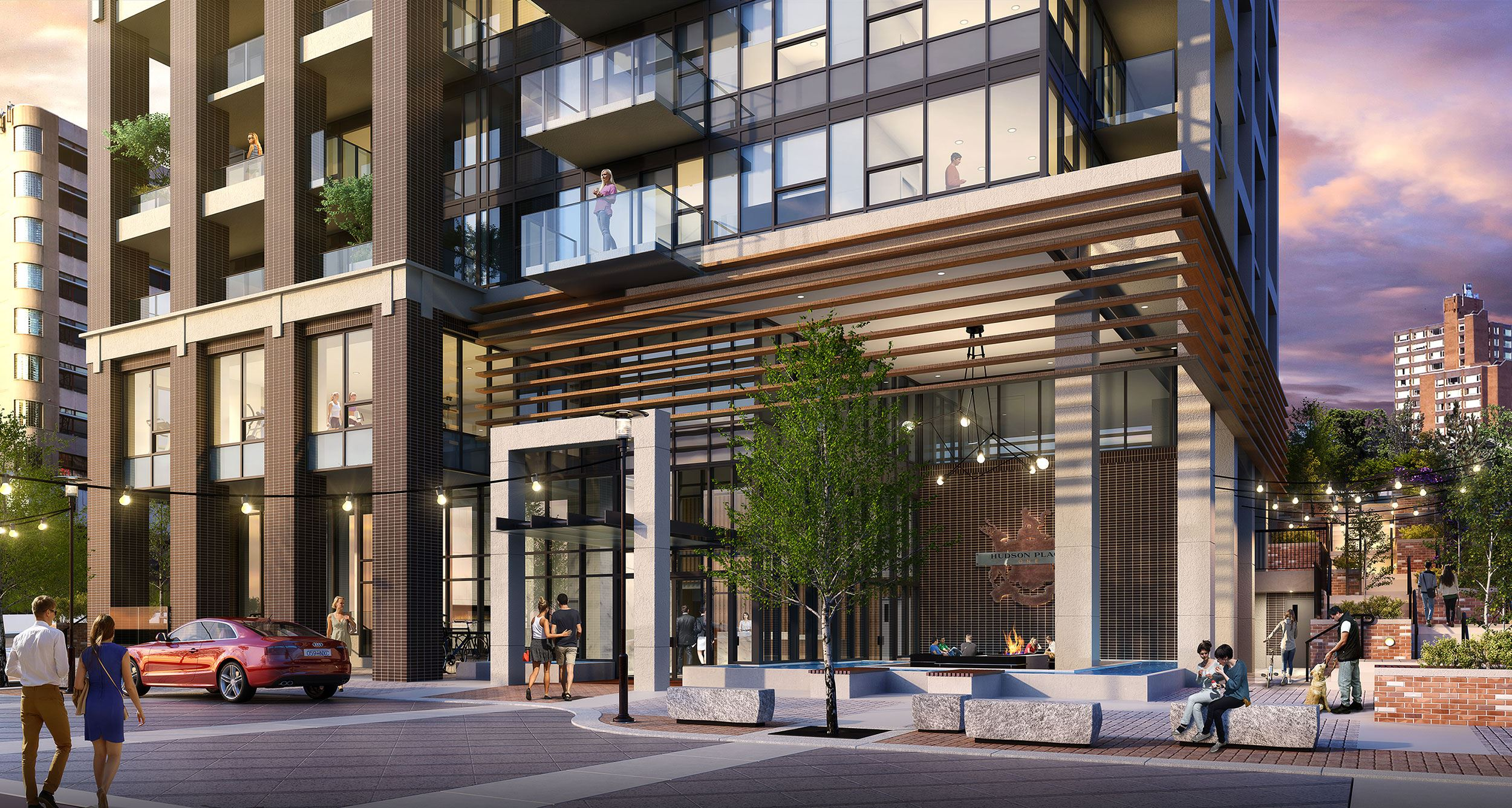 Exterior photo of Hudson Place One