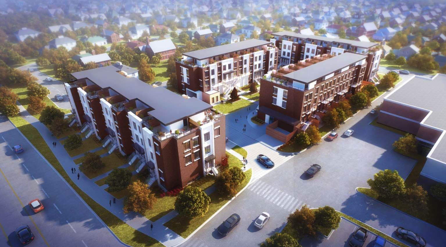 Exterior photo of 9560 Islington Urban Towns
