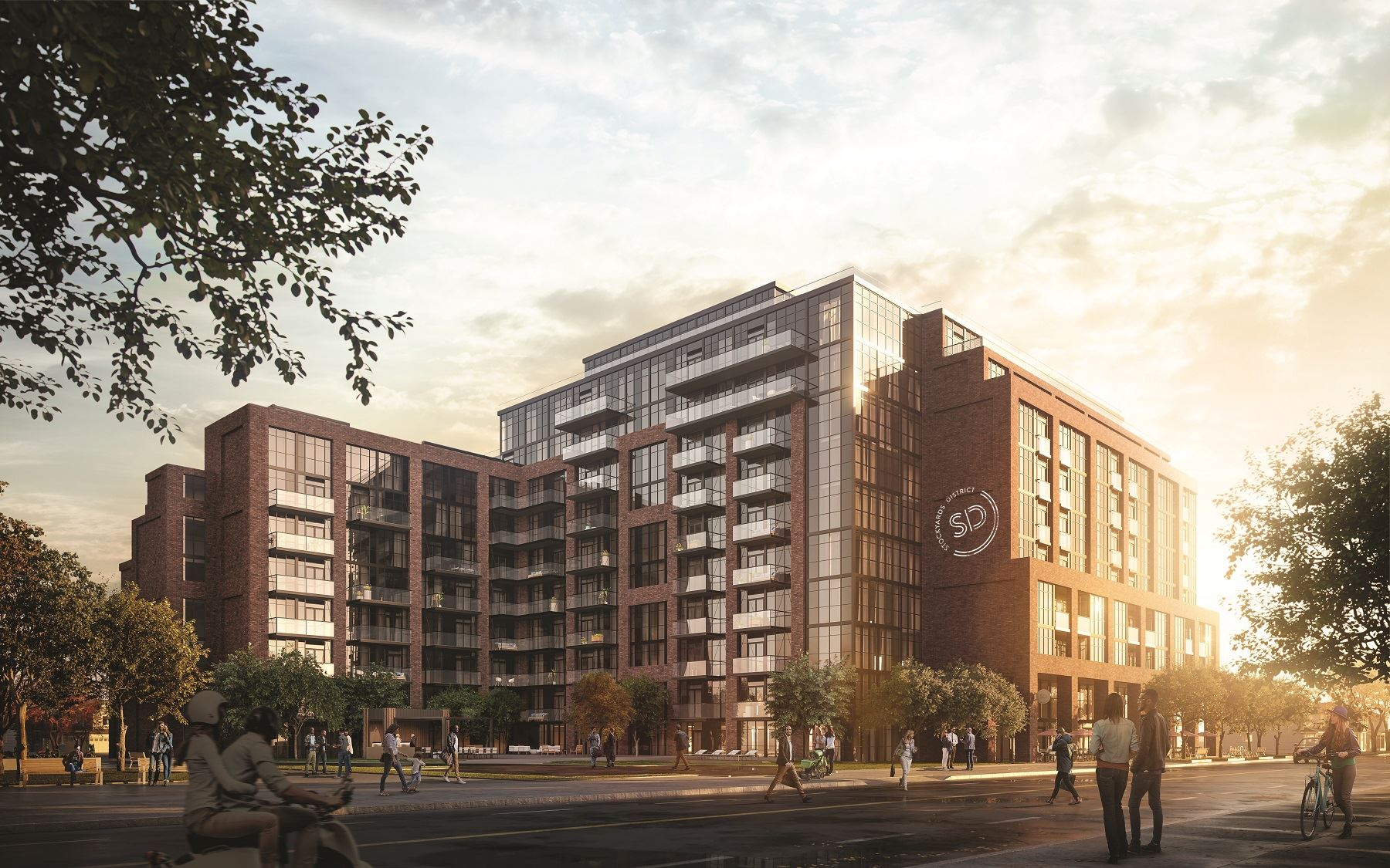 Exterior photo of Stockyards District Residences