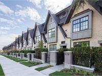 Exterior photo of Oak + Park Townhomes
