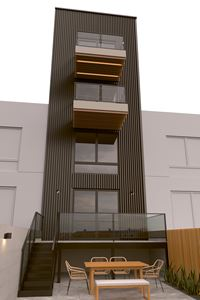Exterior photo of 545 Lexington Townhouses
