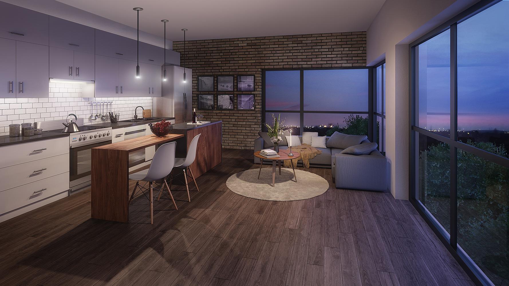 Interior photo of Midtown Lofts