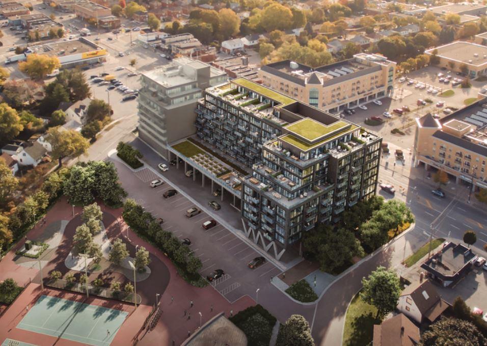 Exterior photo of Queensway Park Condos