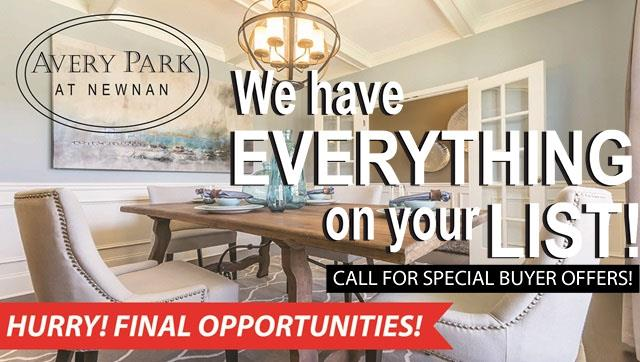 Avery Park in Newnan, GA   Prices, Plans, Availability on lennar home plans, toll brothers home plans, pulte home plans,