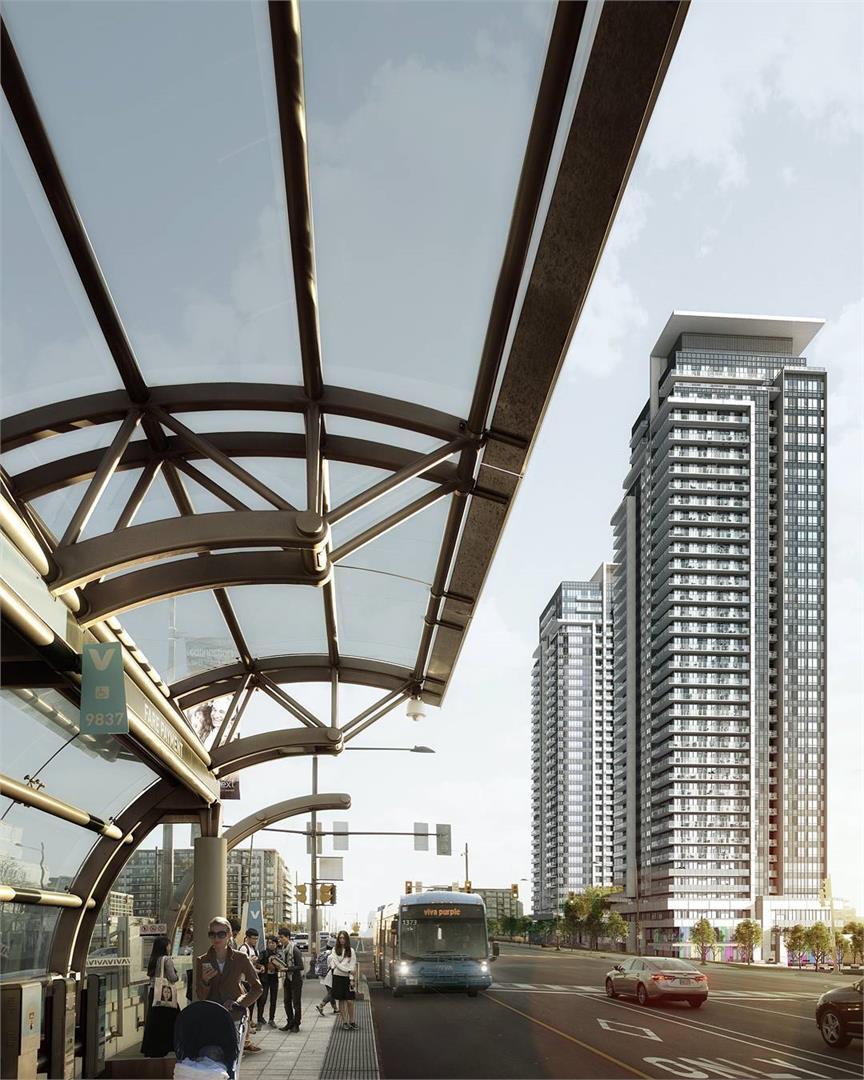Exterior photo of Pavilia Towers Condominiums