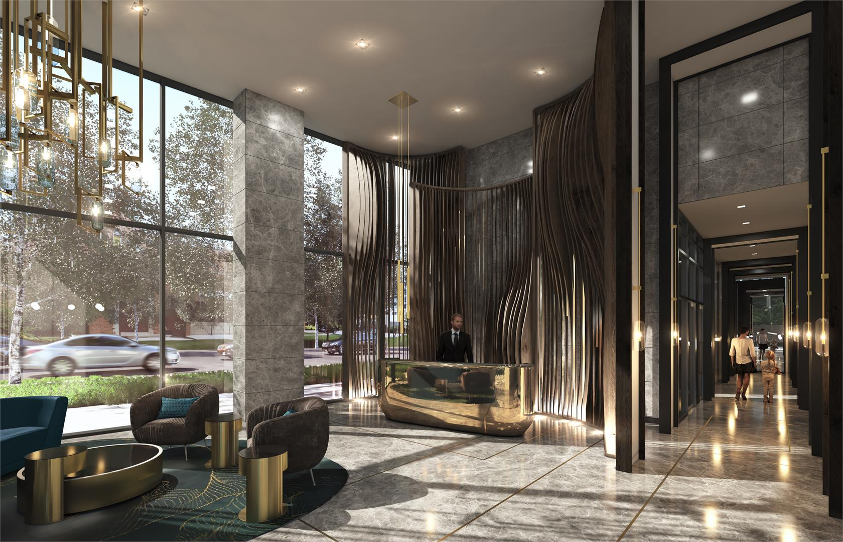 Interior photo of Azura Condos