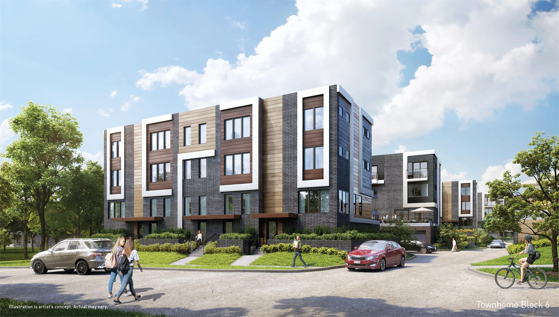 Exterior photo of Parkside Towns at Saturday