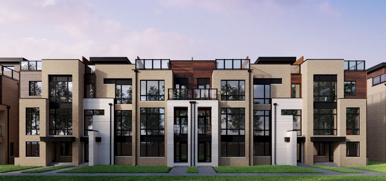 Exterior photo of The Towns on Bayview - Phase 1