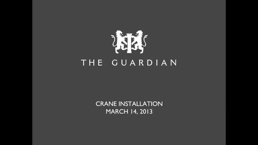 The Guardian Condos Crane Construction Time-Lapse