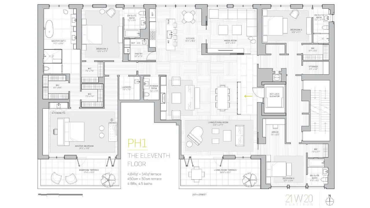 21 West 20th Street - Penthouse 1 Floorplan Walkthrough
