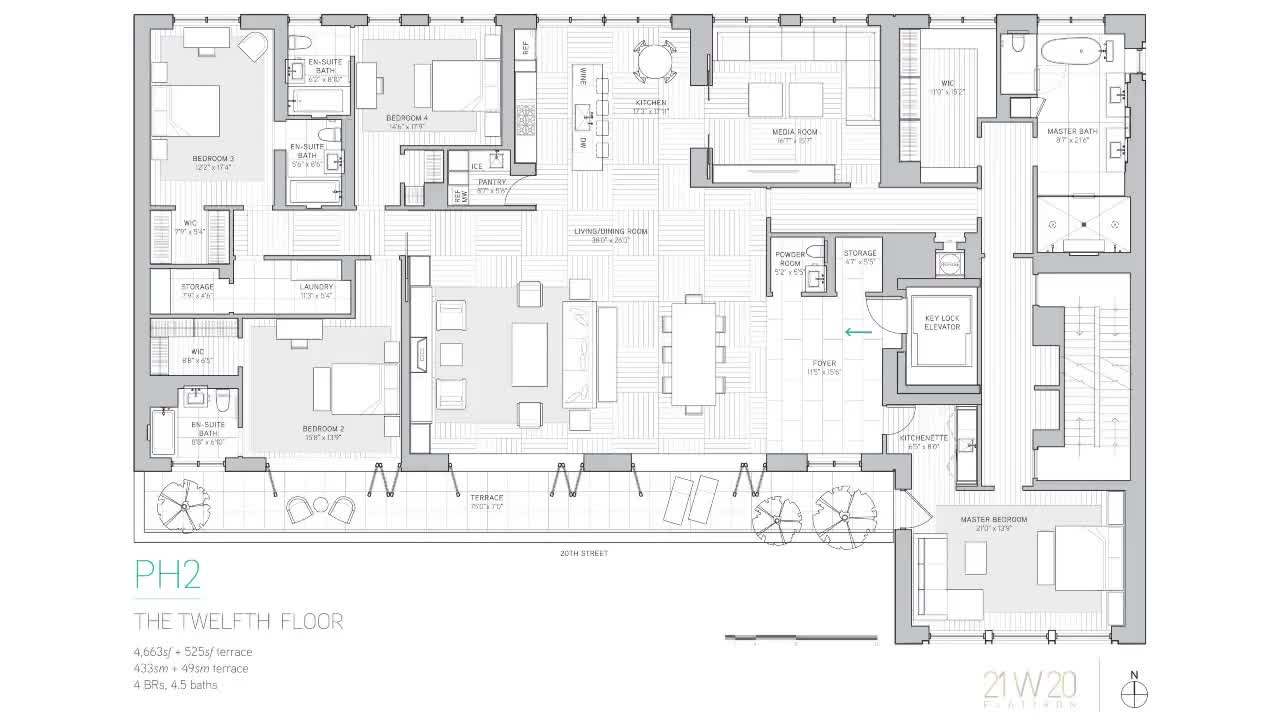 21 West 20th Street - Penthouse 2 Floorplan Walkthrough